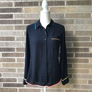 Express Portofino Slim Fit Black Color Accents S
